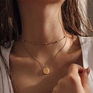 3/$25 Layered Beads and Coin Necklace